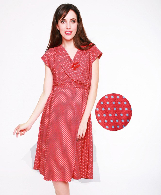 Reiko Maternity & Nursing Dress - Coral - Nursing Wear