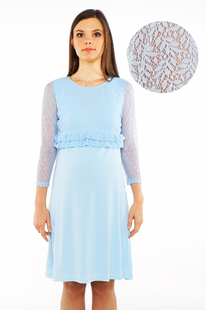 c3c064ec16 Parisian Lace Maternity   Nursing Dress - Baby Blue-8