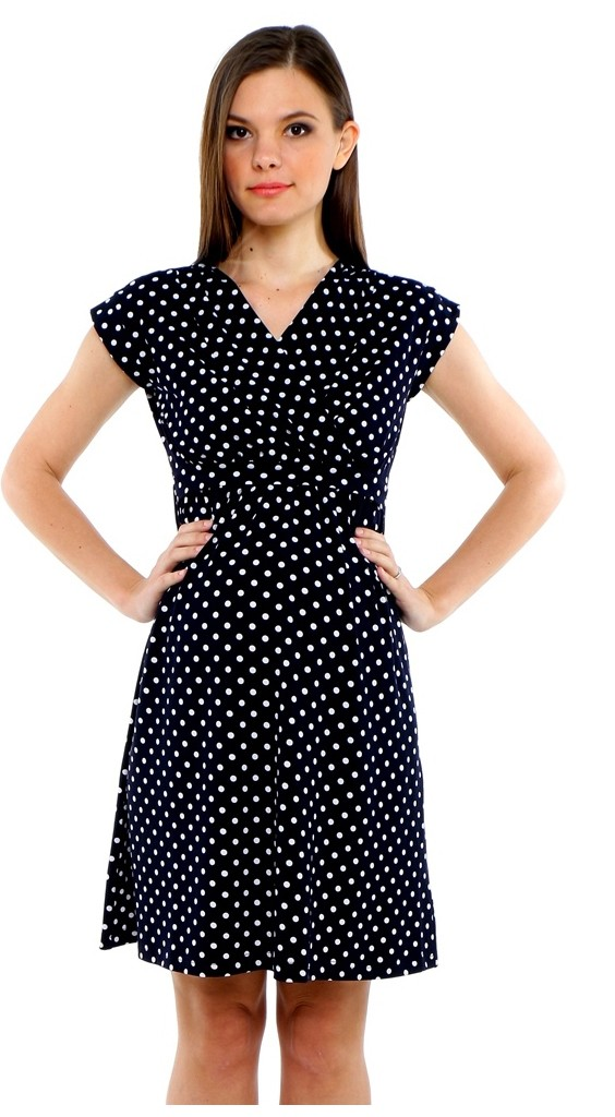 43d8619a3c7 Verona Maternity & Nursing Dress - Polka Dot - Nursing Dresses - Nursing  Wear