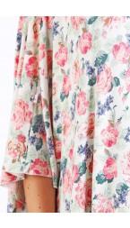 Tea Rose Nursing Poncho - Modal Spandex