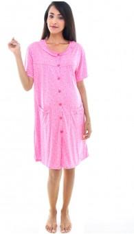 UM Maternity/Nursing Nightie - Willow (Pink)