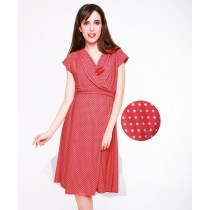 Reiko Maternity & Nursing Dress - Coral
