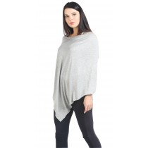 Heather Grey Nursing Poncho - Modal Spandex