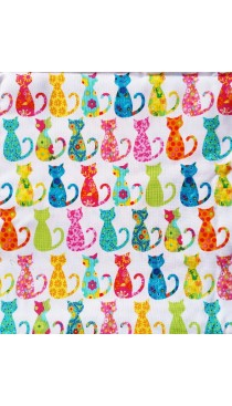 Cats in Prints - Tie Back Style Nursing Cover *Designer fabric from USA