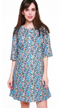 Ella Nursing Dress - Leaves