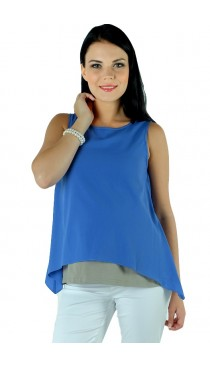 Fiorenza Maternity & Nursing Top - Cornflower blue