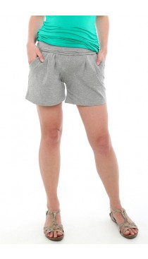 Foldover Pocket Shorts - Light heather grey