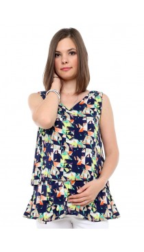 Kaleidoscope Layered maternity & nursing Top
