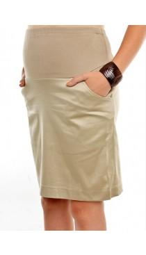Cassie Maternity Skirt - Latte