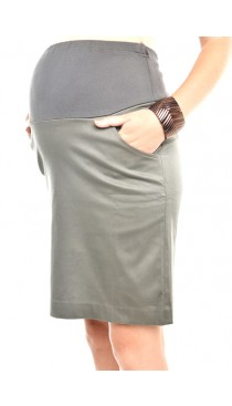 Khloe Maternity Skirt - Slate