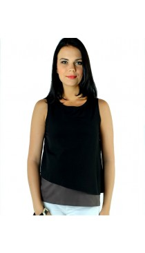 Lyndon Nursing Top - Black