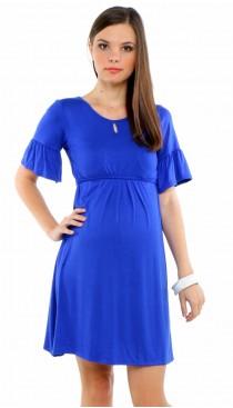 Sicile Maternity & Nursing Dress - Royal Blue