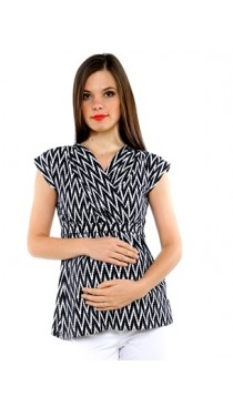 Valencia Maternity & Nursing Top - Chevron