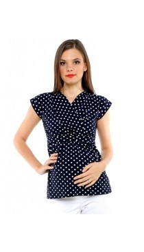 Valencia Maternity & Nursing Top - Polka Dot