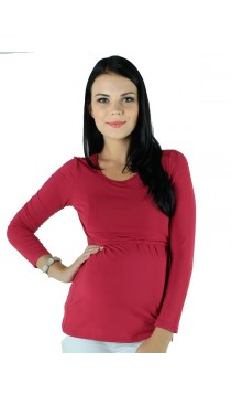 Zest Maternity & Nursing Top - Claret