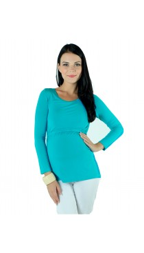 Zest Maternity & Nursing Top - Aqua