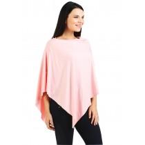 Blush Pink Nursing Poncho - Modal Spandex
